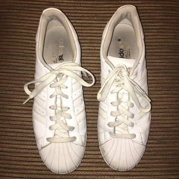 Adidas Shoes Superstars All White Sz 10 Poshmark